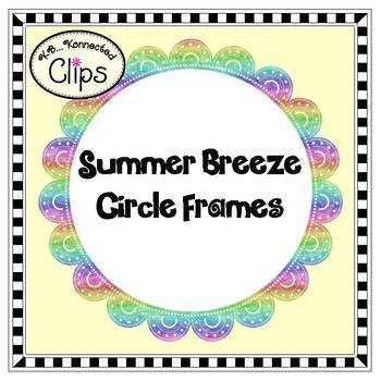 Clip Art - Summer Breeze Circle Frames