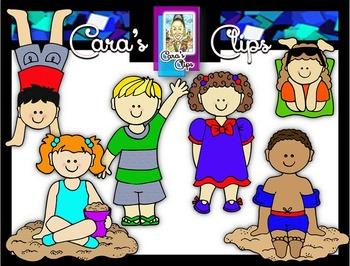 Clip Art~ Summer Kids