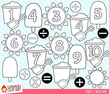 Summer Number Clipart
