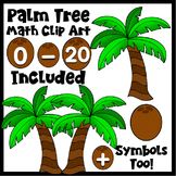 Clip Art~ Summer Palm Tree Math
