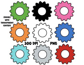 Clip Art | Sunburst Frames |  png frames | For Commercial Use