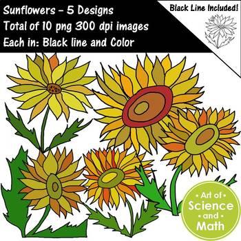Sunflowers Clip Art