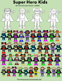 Clip Art- Super Hero Kids