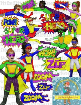 Clip Art: Super Heroes by HeatherSArtwork