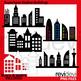 Clip Art Superhero Buildings Collection / Bundle / Skyline city