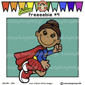 Clip Art Superhero Kid - FREE! Adorable Squishies
