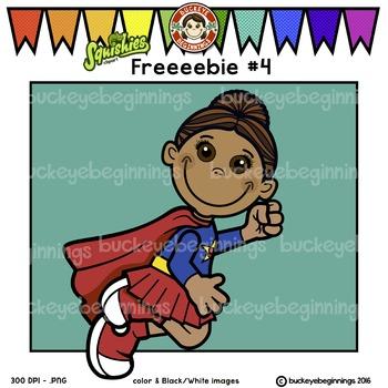 Clip Art Superhero Kid - FREE! Adorable Squishies