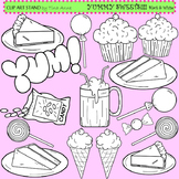 Clip Art Sweets black and white