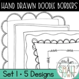 20 Doodle Border Frames // Mini Set #1 //  Personal and Commercial Use