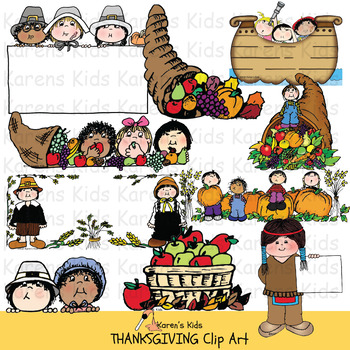 Clip Art THANKSGIVING KIDS