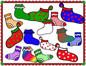 Clip Art~ Tacky Christmas Socks / Stockings