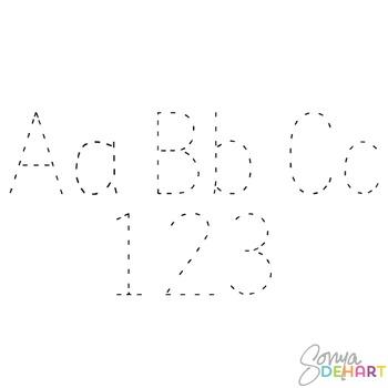 Alphabet - Teacher Tracing Alphabet Clipart