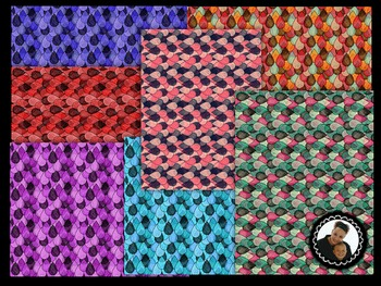 Clip Art~ Teardrops Digital Paper Collection