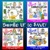 Clip Art Teenage Bundled Images >  Communication, Job-Career, Money & Activities