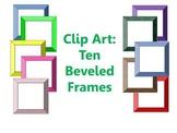 Clip Art: Ten Beveled Frames