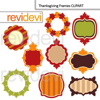 Clip Art Thanksgiving Frames / tag, label