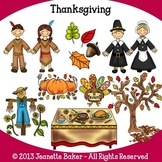 Thanksgiving Clip Art by Jeanette Baker