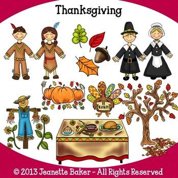 Thanksgiving Clip Art by Jeanette Baker
