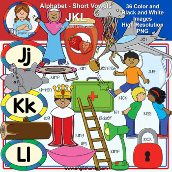 Clip Art - The Alphabet (JKL)