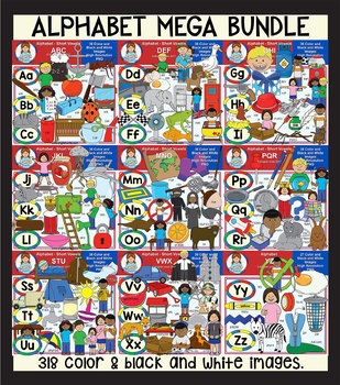 Clip Art - The Alphabet Mega Bundle