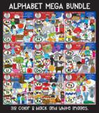 Clip Art - The Alphabet Mega Bundle (Short Vowels)