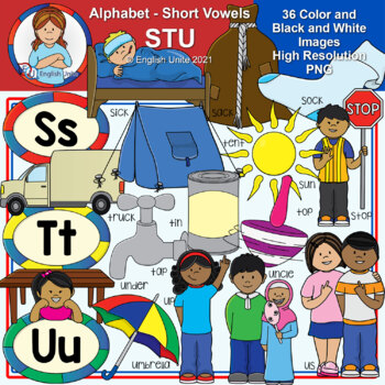 Clip Art - The Alphabet (STU)