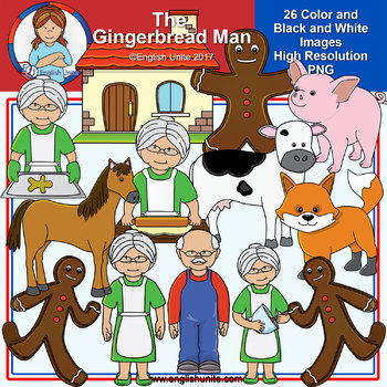 Clip Art - The Gingerbread Man