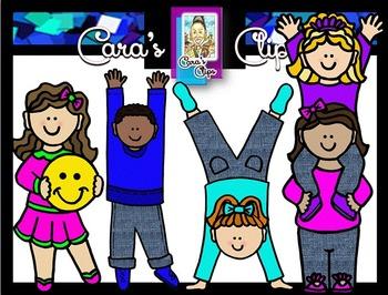Clip Art~ The Happy Dance Kids