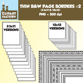 Clip Art: Thin Borders and Frames #2 - 24 Fun page borders