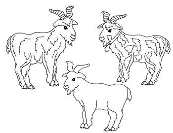 Clip Art~ Three Billy Goats Gruff