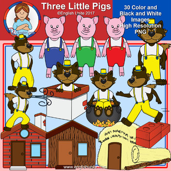 Clip Art - Three Little Pigs