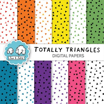 Totally Triangles Clipart / Digital Papers for Personal and Commercial Use