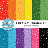 Totally Triangles Digital Papers | Bright Clipart Backgrounds