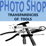 Clip Art: Transaprencies, Photographs of tools in Black and White