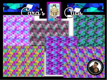 Clip Art~ Triangle Scatter Digital Paper Collection