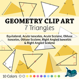 Geometry Clip Art: 7 Triangles – For Print & Digital