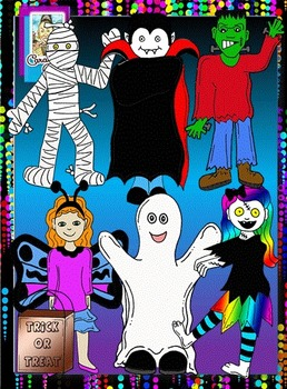 Clip Art~ Halloween Fun Trick-or-Treat