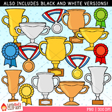 Award Clip Art - Trophies, Ribbon and Medals