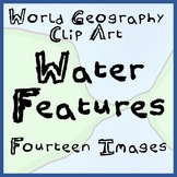 14-Image Package of World Geography Water Features Clip Ar