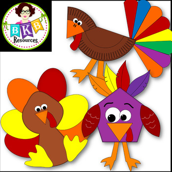 Clip Art ● Turkey Crafts ● Digital Images ● Graphics ● Products for TpT Sellers