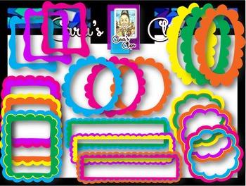 Clip Art~  Tutti-Fruity Summer Frames