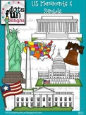 Clip Art: US Monuments & Symbols ~Dots of Fun Designs~