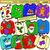 Clip Art Ugly Christmas Sweaters Combo