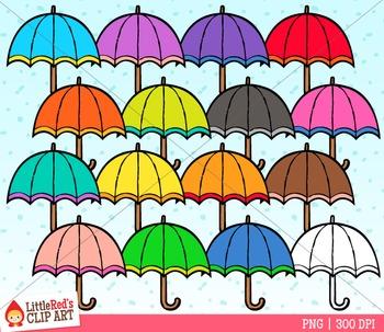 Rainbow Umbrellas Clipart