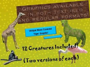Clip Art: Unique Zoo Creatures