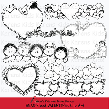 Clip Art VALENTINES (Karen's Kids Clip Art)