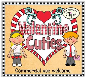 Clip Art - Valentine Cuties with Frames