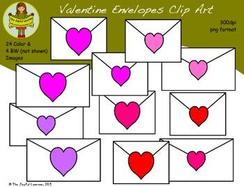 Clip Art: Valentine Envelopes (freebie)