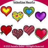 Valentine Hearts Clip Art by Jeanette Baker
