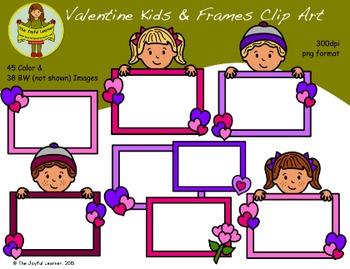 Clip Art: Valentine Kids - Huge Set!
